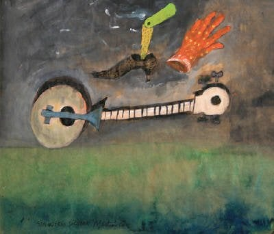 James Martin: Stringless Guitar (gouache on paper, 2008)
