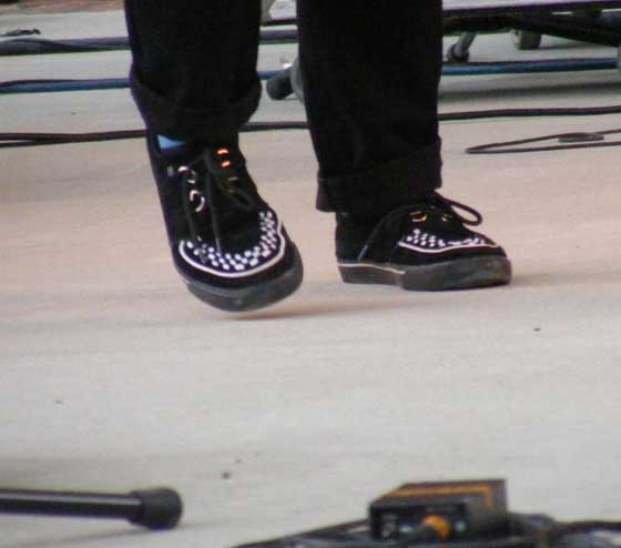Dave Minehan's 2-tone creepers (photo by Matt Mac Haffie)