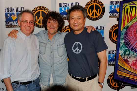James Schamus, Michael Lang and Ang Lee at the Woodstock Film Festival screening in Woodstock. Photo by Dion Ogust.
