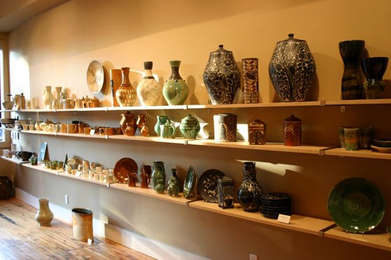 Studio pottery at Ferrin Gallery