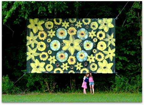 Portia Munson: Cut Dafodils (billboard) at The Fields Sculpture Park, Art Omi