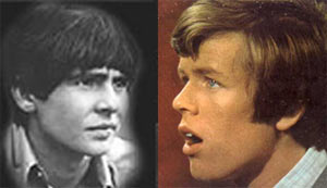 Davy Jones (left) and Peter Noone