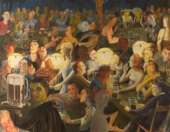 Nicole Eisenman: Biergarten at Night
