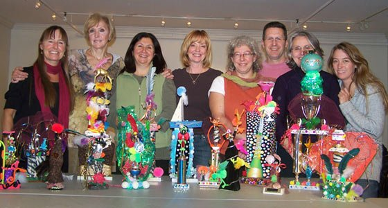 Trophy artists (left to right): Lisa Earl, Lonnie Lawrence, Laura McGrew, Susan Nichols, Joy Muller-McCoola, Gary McCoola, Brooke Witham, Laura Von Rosk.