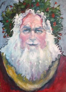 Father Christmas ( a painting by Kevin McKrell)