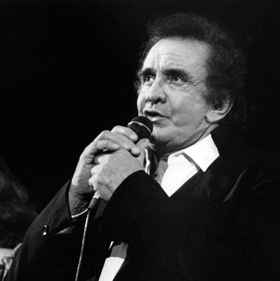 Johnny Cash at the Starlite Theater 9/3/94 (photo by Martin Benjamin)