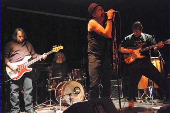The Last Conspirators rip it up at Jason's Upstairs Bar (photo by Al Goldberg)