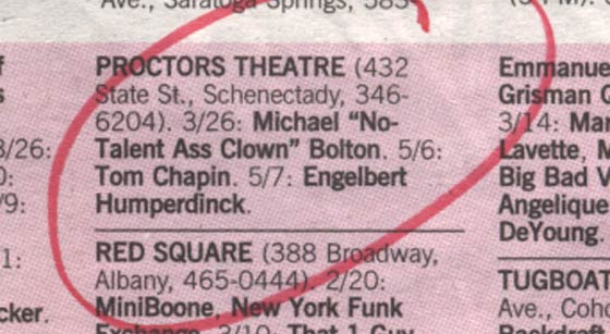 Michael Bolton Listing in Metroland Magazine