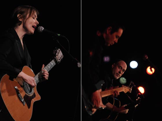 (left) Suzanne Vega and (right) Shane Fontayne and Marc Cohn