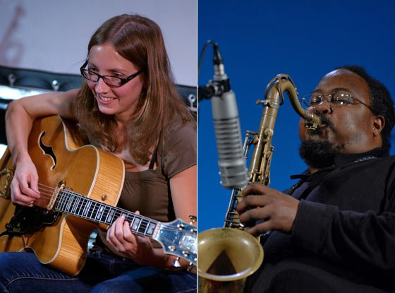 Photos by Andrzej Pilarczyk: Mary Halvorson and Ras Moshe