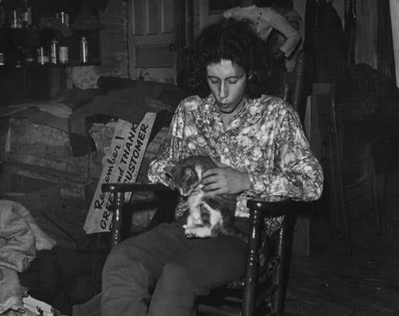 Arlo Guthrie and a friend in the back room at Caffe Lena (Photo by Lilla Wales)
