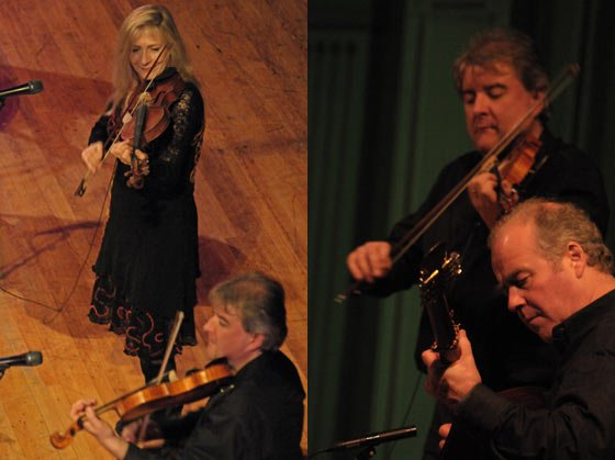 Fiddling around: Maire'ad Ni Mhaonaigh, Ciaran Tourish and Ciaran Curran
