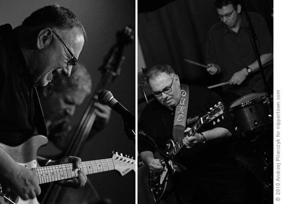 Duke Robillard with bassist Brad Hilleen and drummer Mark Teixeira