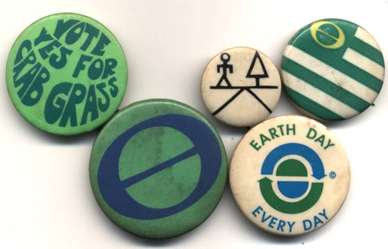 Vintage Earth Day buttons