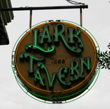 Lark Tavern Front Neon Sign