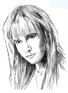 Melissa Etheridge (drawing by Charles Haymes)