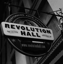Revolution Hall Sign