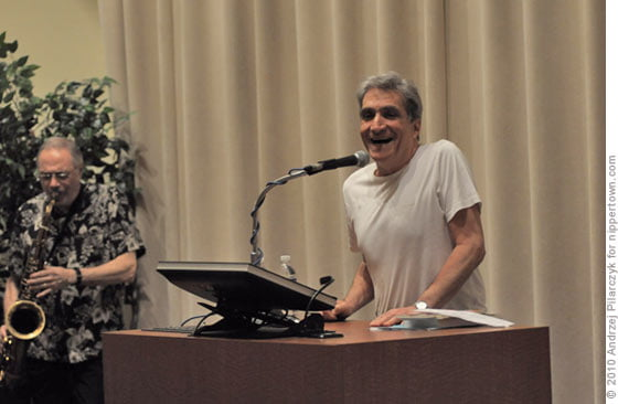Pat LaBarbera and Robert Pinsky