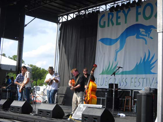 Hot and sunny for the opening day of the Grey Fox Bluegrass Festival