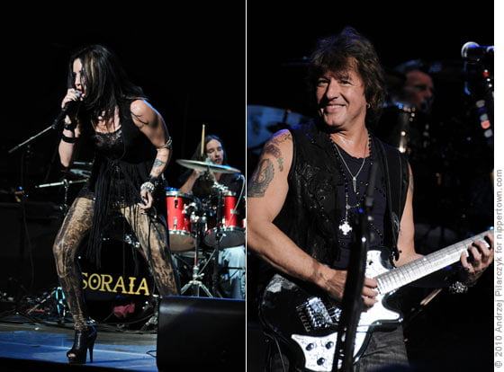 (left) Soraia and (right) Bon Jovi's Ritchie Sambora
