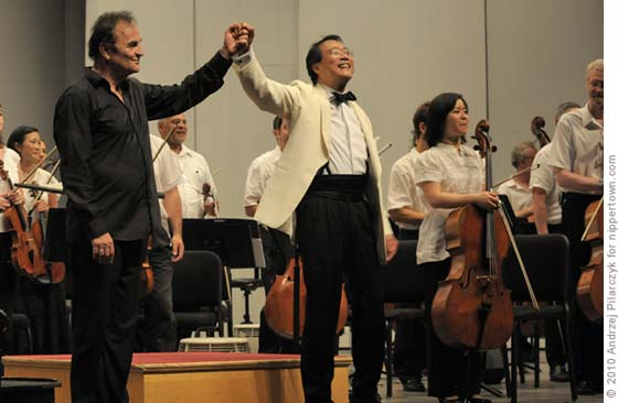 Charles Dutoit and Yo-Yo Ma