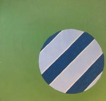 Edward Avedisian: Blue and White Beach Ball  @ Carrie Haddad