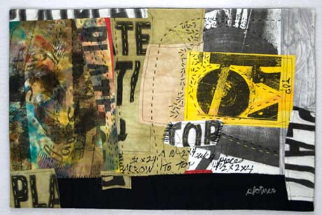 Fabric collages by Judith Plotner @ Lapham Gallery
