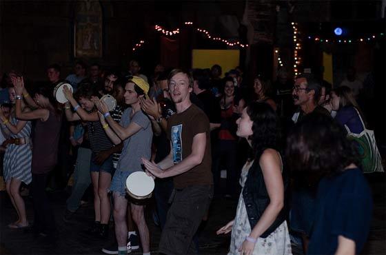 Interactivity: tambourines