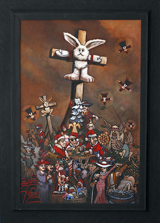 Bruce MacDonald: Crucified Stuffed Bunny @ Berkshire Artists Colony