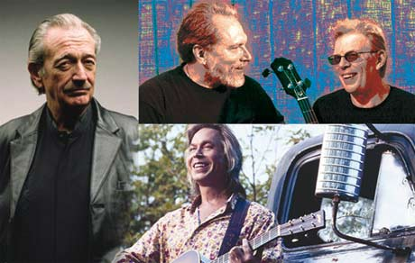 Hot Tuna Blues: (clockwise from left) Charlie Musselwhite, Jorma Kaukonen, Jack Casady, Jim Lauderdale