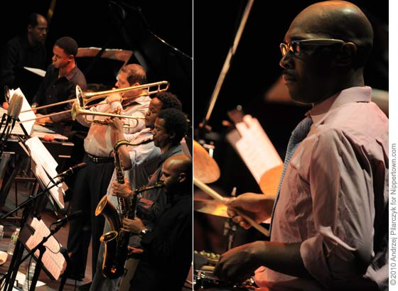 (left) The SF Jazz Collective, (right) Eric Harland
