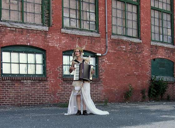 Serenades for Factories and Mills in an empty factory behind MASS MoCA (photo by Sharon Bass)