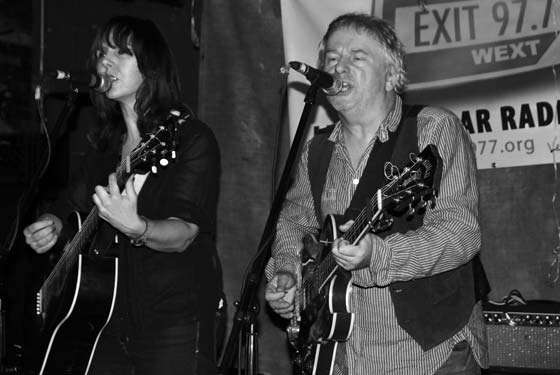Amy Rigby and Wreckless Eric (photo by Al Goldberg)