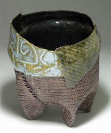 Ceramic vessel by Lori St. Pierre @ NAACO Gallery