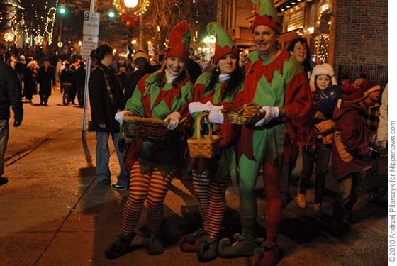 Elves at the Saratoga Victorian Streetwalk