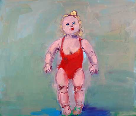 Vincent Cigniglio: Doll in Red Suit @ John Davis Gallery