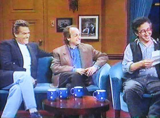 Chuck Woolery, David Paymer and David Greenberger on the Conan O'Brien show