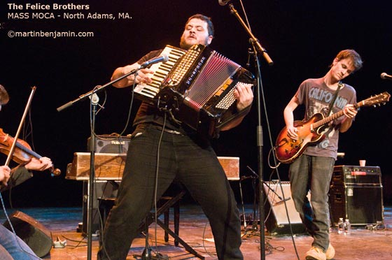 The Felice Brothers @ MASS MoCA (photo by Martin Benjamin)