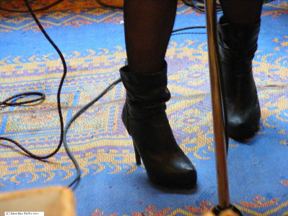 Holly's high-wire winter boots from Holly and Evan @ the River Street Beat Shop 1/22/11