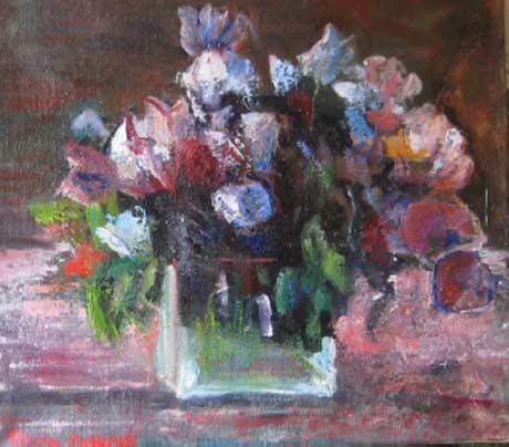 Elaine Mokhtefi: Mimi's Flowers @ Martinez Gallery