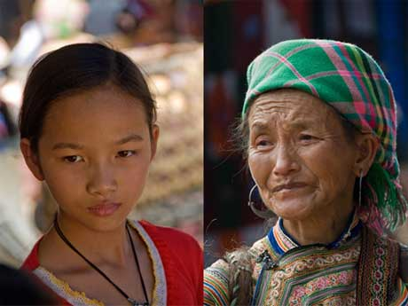 Martin Benjamin: H'mong Child and Woman, Bac Ha Market, Vietnam @ Mandeville Gallery