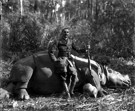 Dirgha Man Chitrakar: Col. Chandra Jung Thapa, 1910 (Courtesy of Ganesh Photo Lab) @ Woods Studio