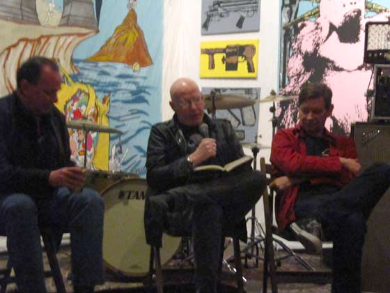 (from left) Mike Hudson, Cheetah Chrome and Bob Pfeifer
