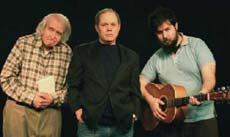 Poet Michael Houlihan, actor Bob Balogh and musician Sam Rosen