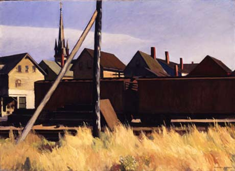 Freight Cars, Gloucester, 1929 @ Fenimore Art Museum