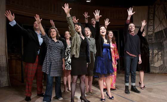 Merrily We Roll Along @ Hubbard Hall (photo by Jonathan Barber)l