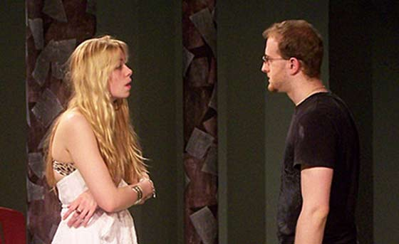 Leandra Sharron as Nina and Jed Krivisky as Konstantine in The Seagull at Main Street Stage