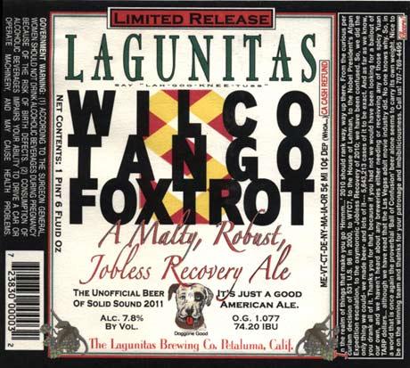 Lagunitas Wilco Tango  Foxtrot Beer