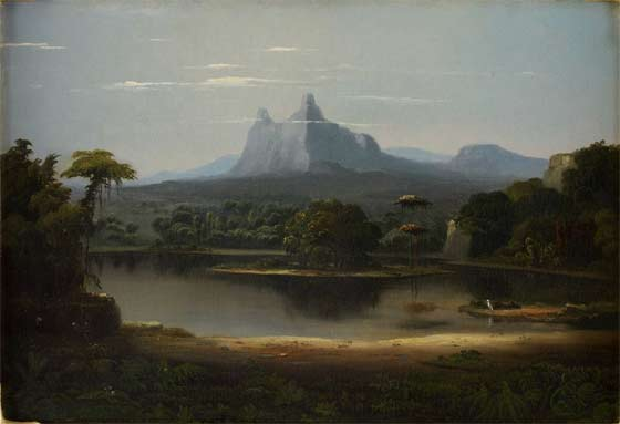 Robert S. Duncanson: Landscape, 1851 @ Thomas Cole National Historic Site