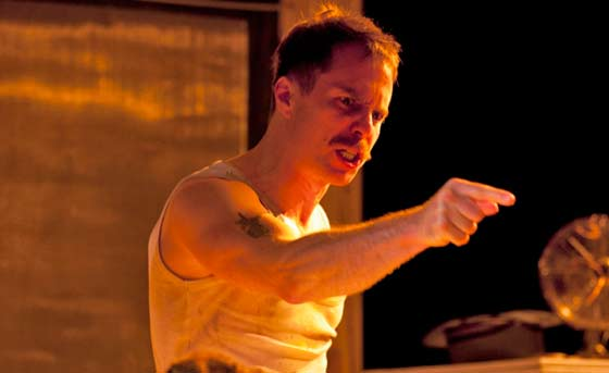 "Sam Rockwell as Stanley in ""A Streetcar Named Desire"" at the Williamstown Theatre Festival (photo by T. Charles Erickson)"